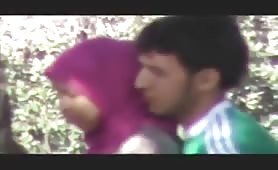 rape turbanli hijap outside disarda